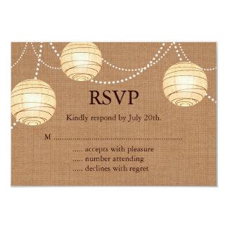 Burlap Party Lanterns RSVP Card