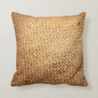 Burlap Print Throw Pillow