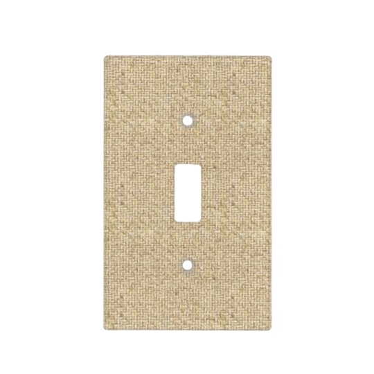 Burlap rustic simple lightswitch cover