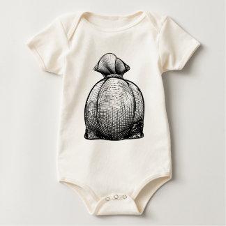 Burlap Sack or Money Bag Baby Bodysuit
