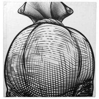 Burlap Sack or Money Bag Napkin