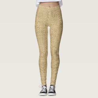 Burlap Sackcloth Sack Theater Costume Leggings