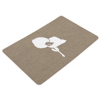 Burlap Seedling Floor Mat