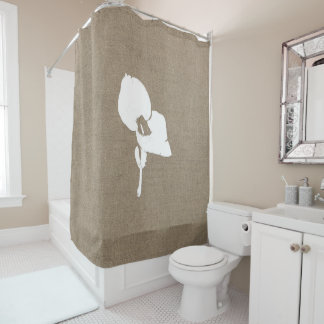 Burlap Seedling Shower Curtain