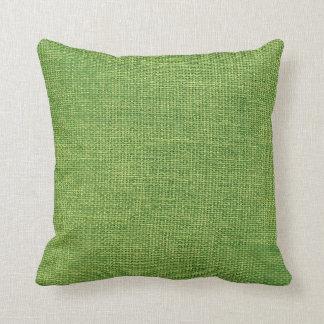 Burlap Simple Apple Green Pillows