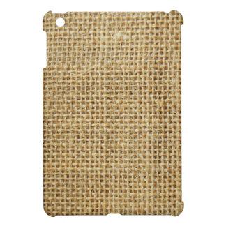 Burlap texture iPad mini cover