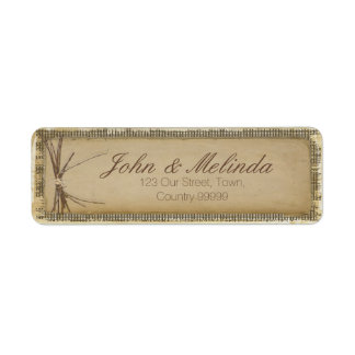 Burlap, Twigs and Twine ID132 Return Address Label