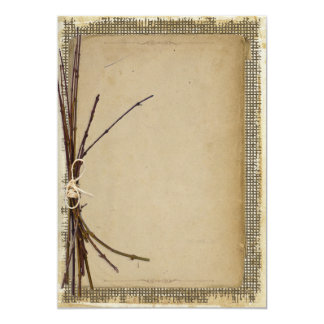 Burlap, Twigs and Twine Template Card
