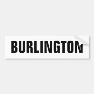 Burlington Bumper Sticker