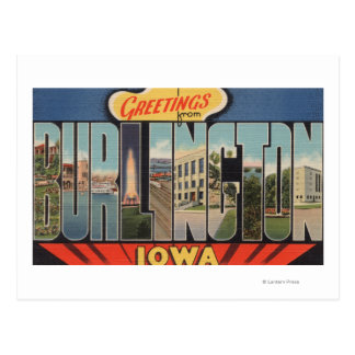 Burlington, Iowa - Large Letter Scenes 2 Postcard