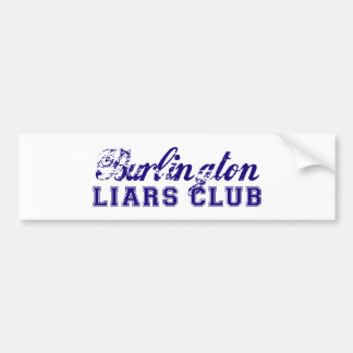 Burlington Liars' Club Bumper Sticker