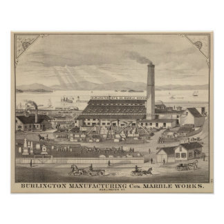 Burlington Manufacturing Co's Marble Works Poster