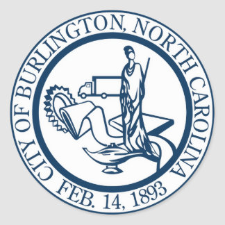 Burlington North Carolina Seal Sticker (pack)