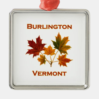 Burlington Vermont Fall Foliage - Maple Leaves Metal Ornament