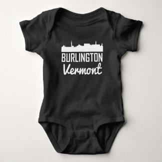 Burlington Vermont Skyline Baby Bodysuit