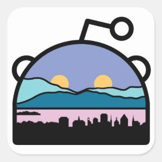 Burlington, VT Sub Reddit Logo Square Sticker