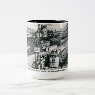 Burlington Zephyr Train Vintage Two-Tone Coffee Mug