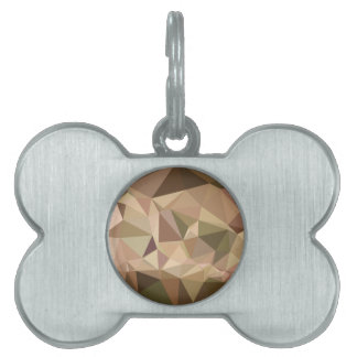 Burlywood Abstract Low Polygon Background Pet Name Tags