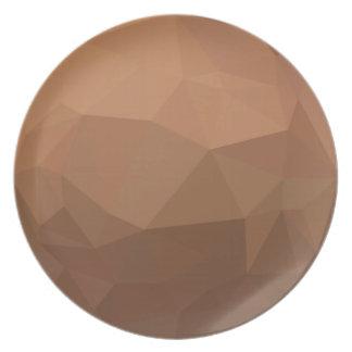 Burlywood Goldenrod Abstract Low Polygon Backgroun Plate