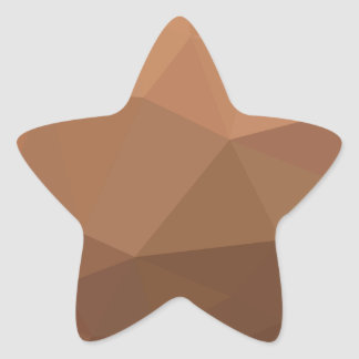 Burlywood Goldenrod Abstract Low Polygon Backgroun Star Sticker