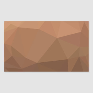 Burlywood Goldenrod Abstract Low Polygon Backgroun Sticker