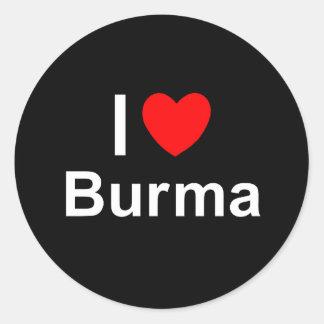 Burma Classic Round Sticker