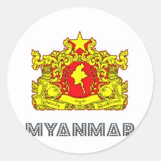 Burma Emblem Classic Round Sticker