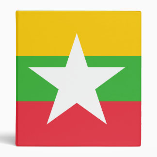 Burma Flag 3 Ring Binder