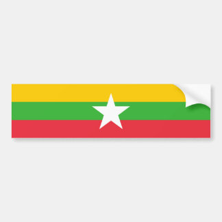 Burma Flag Bumper Sticker