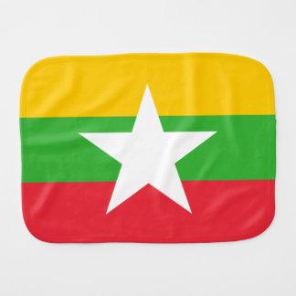 Burma Flag Burp Cloth