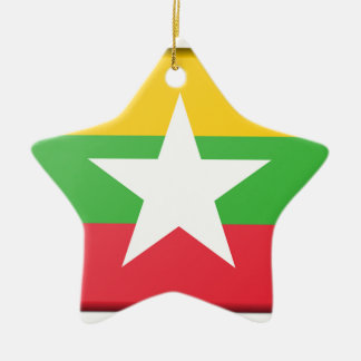 Burma Flag Ceramic Ornament