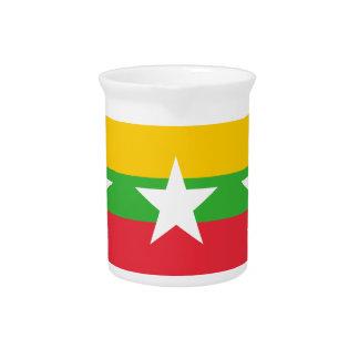 Burma Flag Drink Pitcher