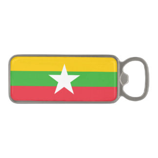 Burma Flag Magnetic Bottle Opener
