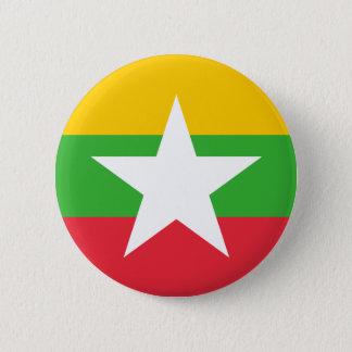 Burma Flag; Myanmar 2 Inch Round Button