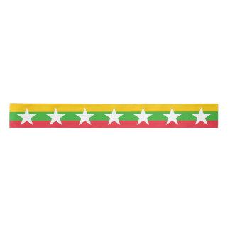 Burma Flag Satin Ribbon