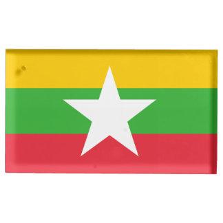 Burma Flag Table Card Holders