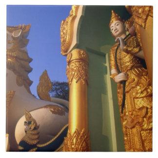 Burma (Myanmar), Rangoon (Yangon) Temple Tiles