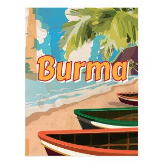 Burma Vintage vacation Poster Postcard