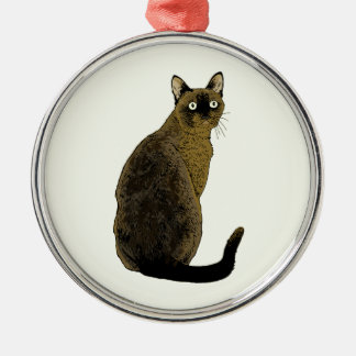 Burmese Cat Metal Ornament