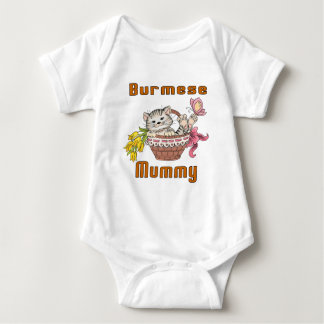 Burmese Cat Mom Baby Bodysuit