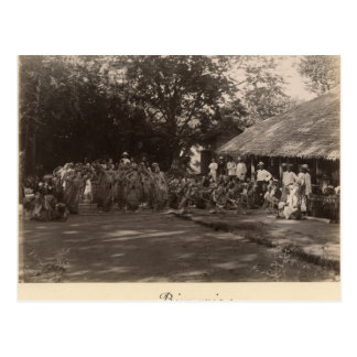 Burmese dancers celebrating, Burma Postcard