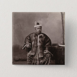 Burmese magistrate, late 19th century 2 inch square button
