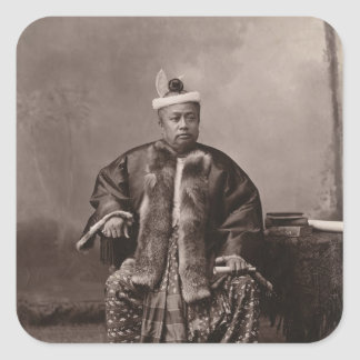 Burmese magistrate, late 19th century square sticker
