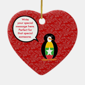 Burmese or Myanmar Holiday Mr. Penguin Ceramic Ornament
