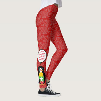 Burmese or Myanmar Holiday Mr. Penguin Leggings