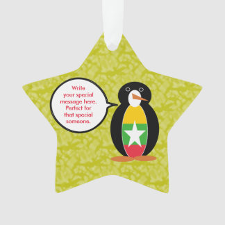 Burmese or Myanmar Holiday Mr. Penguin Ornament