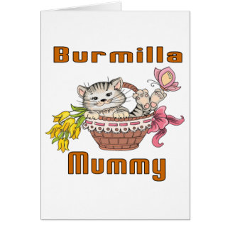 Burmilla Cat Mom Card