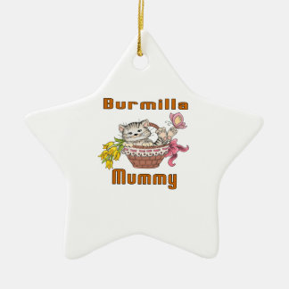 Burmilla Cat Mom Ceramic Ornament