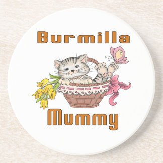 Burmilla Cat Mom Coaster