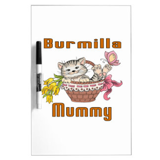 Burmilla Cat Mom Dry Erase Board